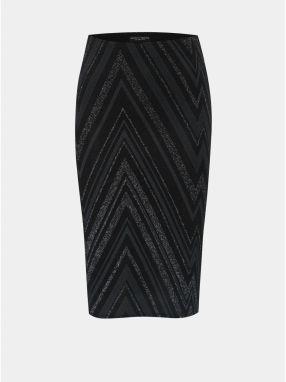 d8b03fb698a5 Sivo–čierna vzorovaná puzdrová sukňa s trblietavým efektom Dorothy Perkins