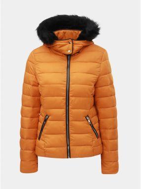 Oranžová prešívaná zimná bunda s odnímateľnou kapucňou TALLY WEiJL f58afd50c8a