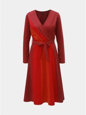 8c3e17b24f26 Tehlové šaty s prekladaným výstrihom Tranquillo Pandina