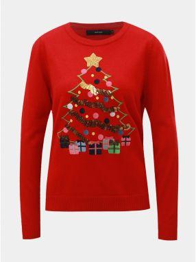 0fadf9959794 Červený sveter s flitrami a vianočným motívom VERO MODA Christmas Tree