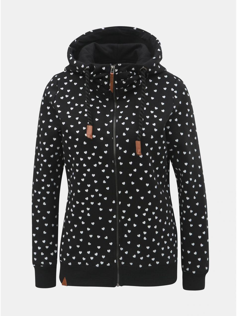 Čierna vzorovaná mikina s kapucňou ONLY Signe značky ONLY - Lovely.sk 7afb50cfe88