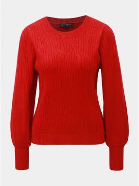 426c87defe7d Červený sveter s balónovými rukávmi Selected Femme Phillipa