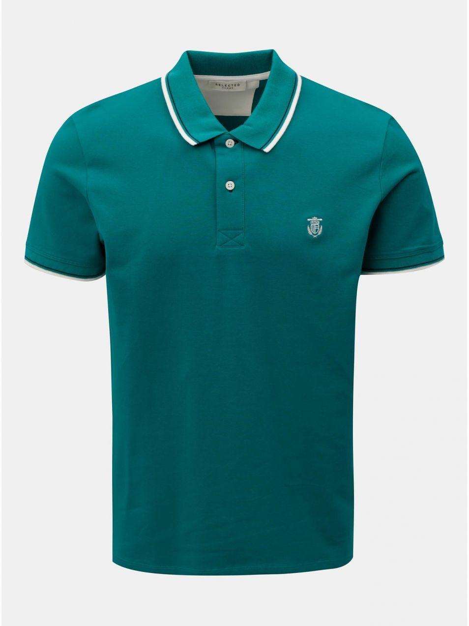 c00431c71215b Zelená polokošeľa Selected Homme Season značky Selected Homme ...