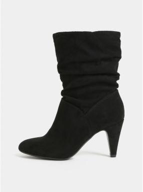 0f3051aa6167b Čierne členkové topánky v semišovej úprave Dorothy Perkins značky ...