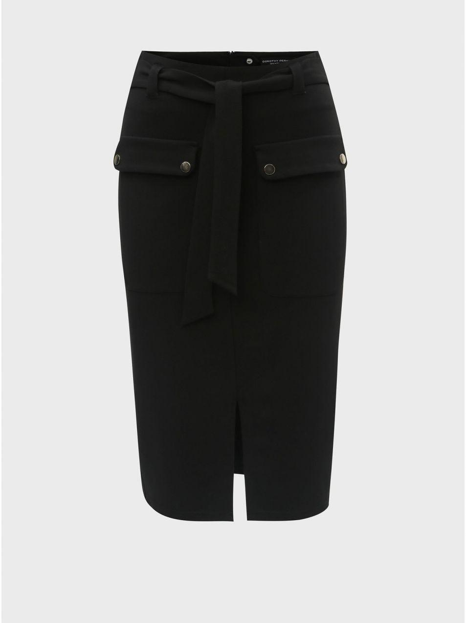 594886db0de8 Čierna puzdrová sukňa s vreckami Dorothy Perkins značky Dorothy ...