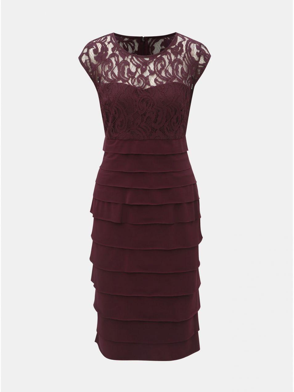 Fialové šaty s čipkovaným detailom Dorothy Perkins značky Dorothy Perkins -  Lovely.sk 1e602948bf0