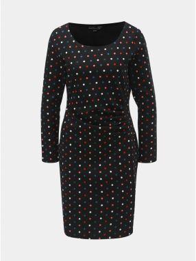 bf975a831070 Krémovo-čierne vzorované šaty s krátkymi rukávmi Smashed Lemon ...