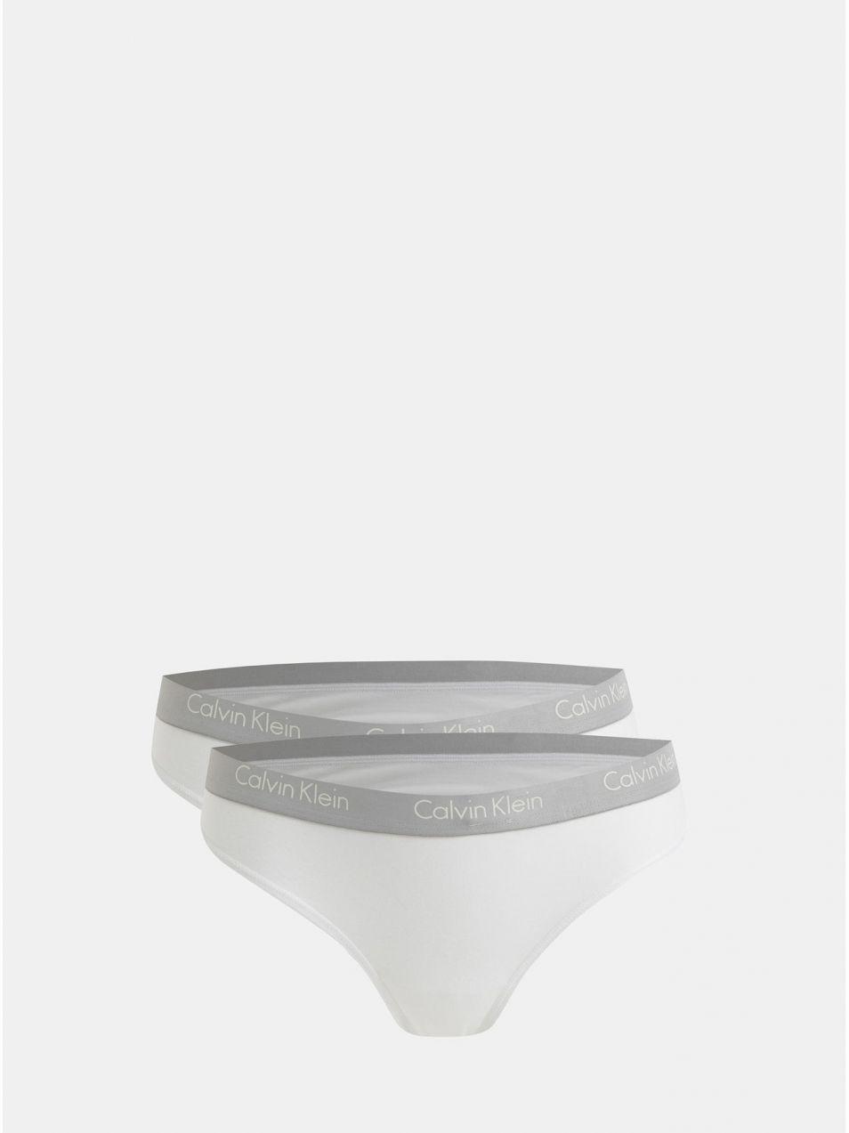 1b8d9075cf Balenie dvoch tanga nohavičiek v bielej farbe Calvin Klein Underwear značky Calvin  Klein Underwear - Lovely.sk