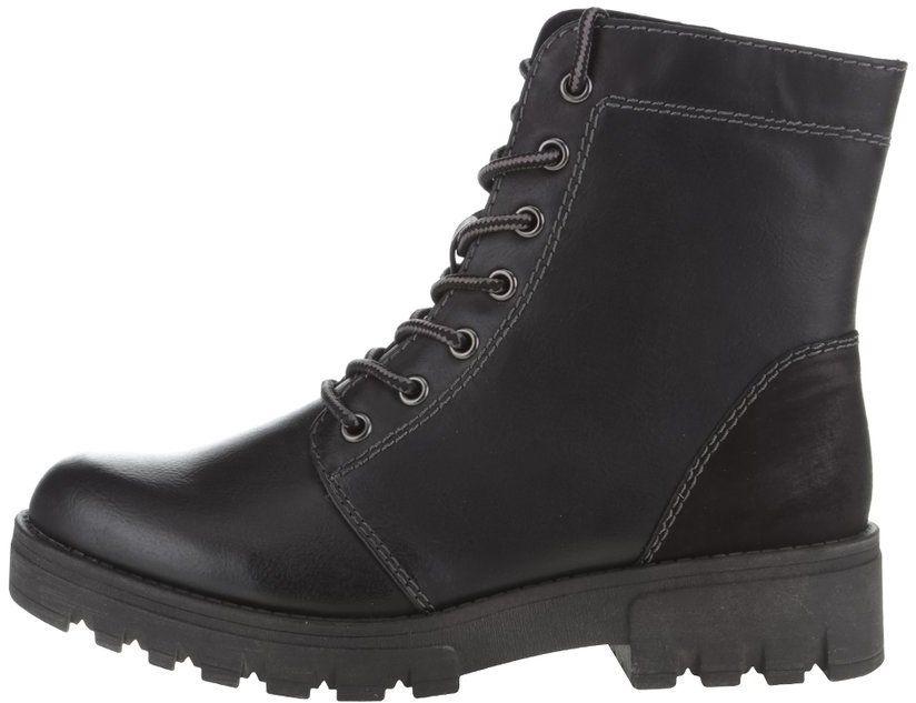 2f695a096096a Čierne vyššie členkové topánky na šnurovanie Tamaris značky Tamaris -  Lovely.sk