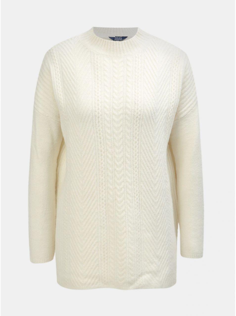 54b08d07c774 Krémový dámsky oversize sveter s prímesou vlny Tom Joule značky Tom ...
