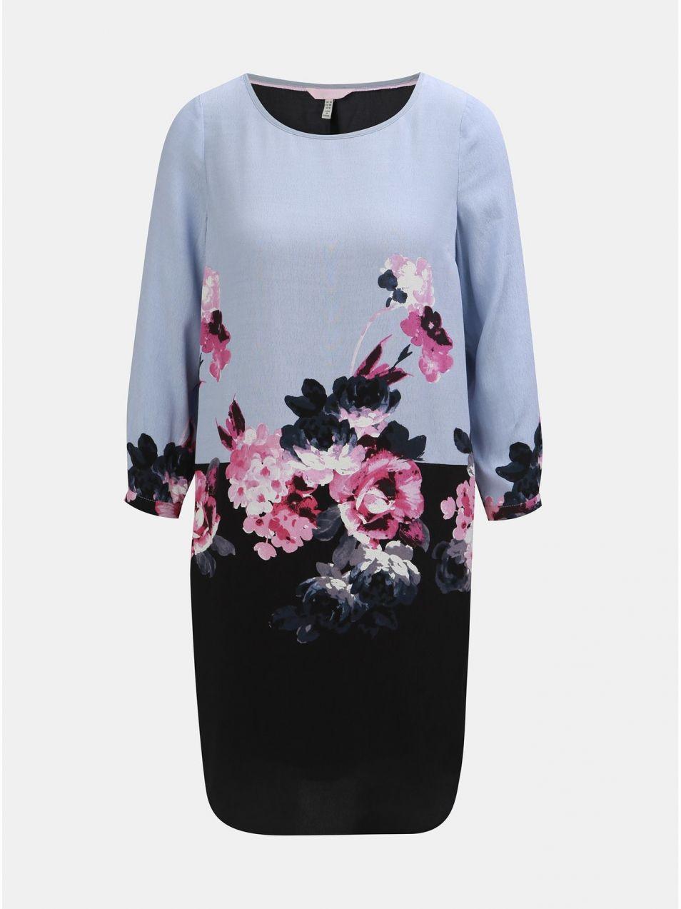 Čierno–modré kvetované šaty s 3 4 rukávom Tom Joule značky Tom Joule -  Lovely.sk 8cbc84a06a0