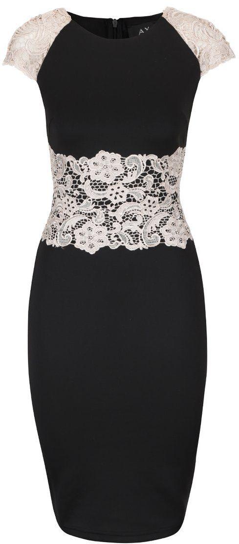 Čierne šaty s krémovou čipkou AX Paris značky AX Paris - Lovely.sk 8176c2fb577
