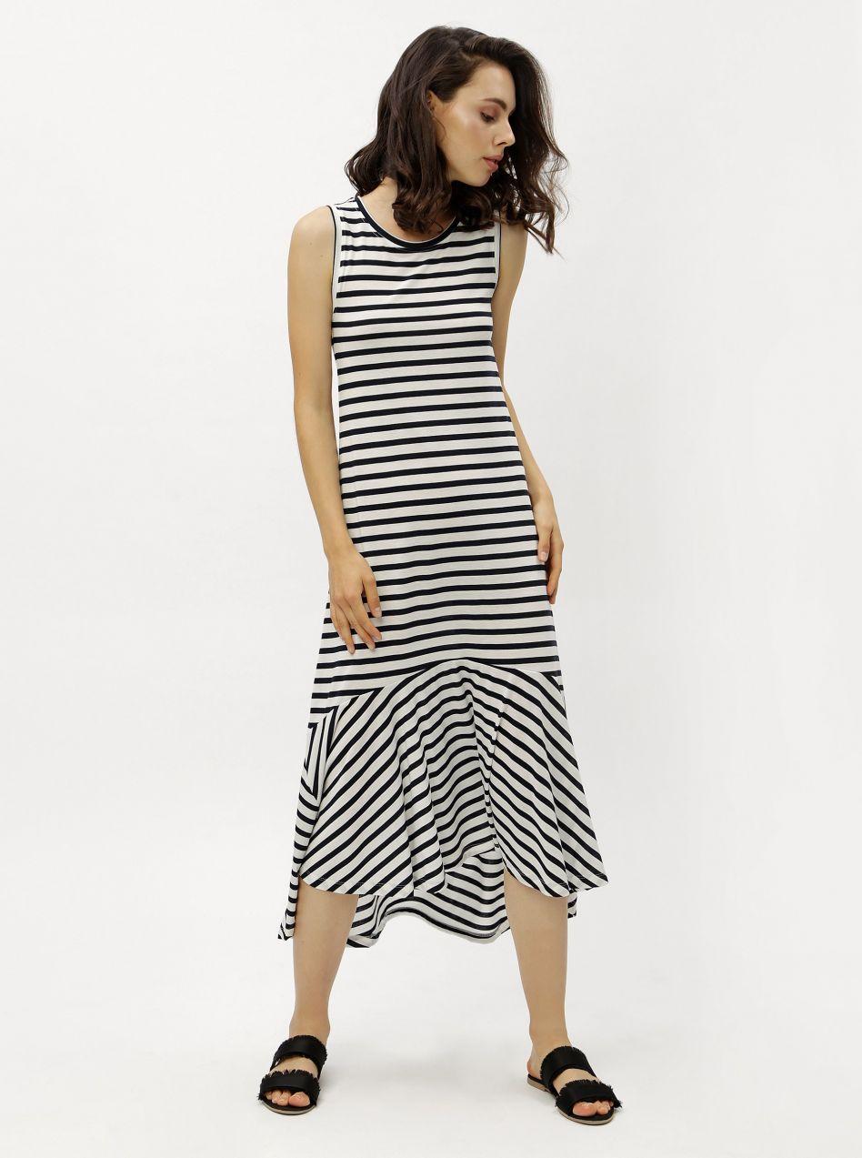 Modro-biele pruhované šaty Jacqueline de Yong značky Jacqueline de ... 125d41525e2