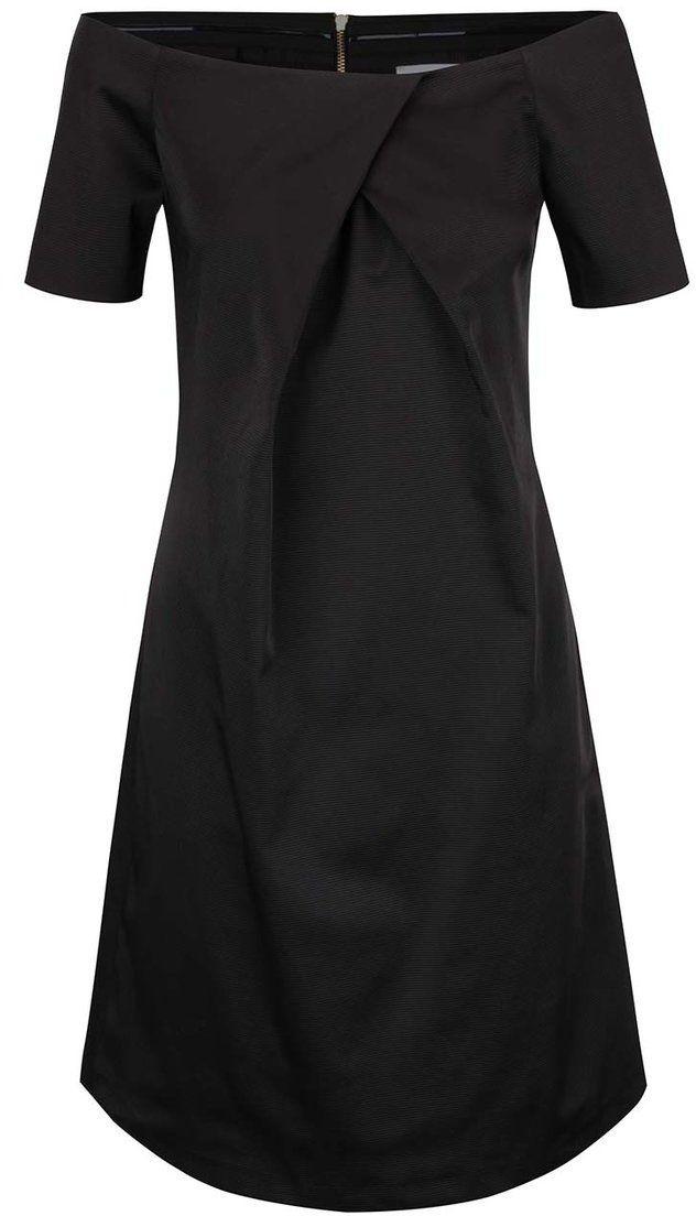 7397b736ddff Čierne šaty s lodičkovým výstrihom Closet značky Closet - Lovely.sk