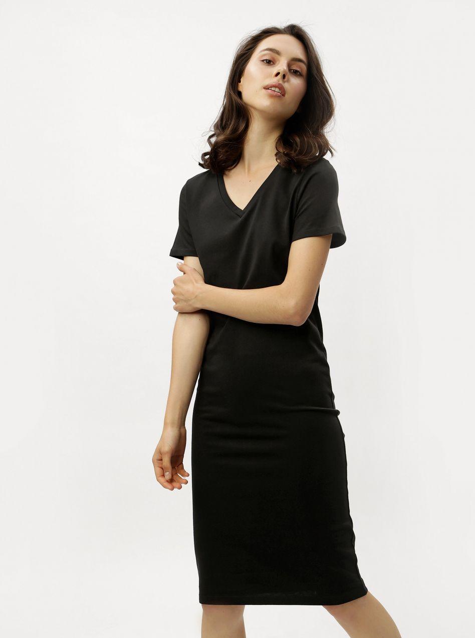 Čierne šaty s krátkym rukávom ZOOT značky ZOOT - Lovely.sk 5b79aab252e