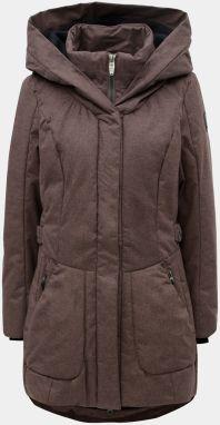 Hnedý dámsky melírovaný nepremokavý kabát killtec f3118f6a776