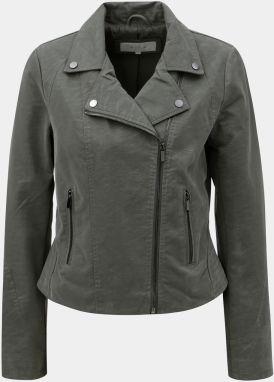 Kaki koženková bunda VERO MODA World značky Vero Moda - Lovely.sk ce3d45ea377