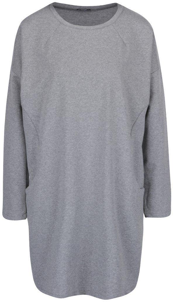 653a0d78c9d1 Sivé voľné šaty s vreckami a dlhými rukávmi ZOOT značky ZOOT - Lovely.sk