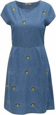 Modré dámske rifľové šaty s motívom citrónov Cath Kidston 25f6ef791b8
