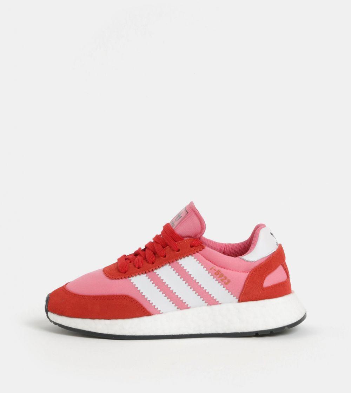7846738b1bd2c Červeno-ružové dámske tenisky so semišovými detailmi adidas Originals Iniki  Runner