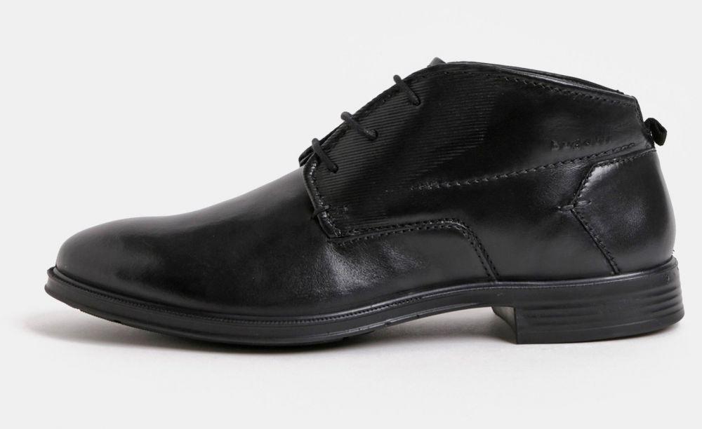 Čierne pánske kožené členkové topánky bugatti Leolo značky bugatti ... b02fdc15264