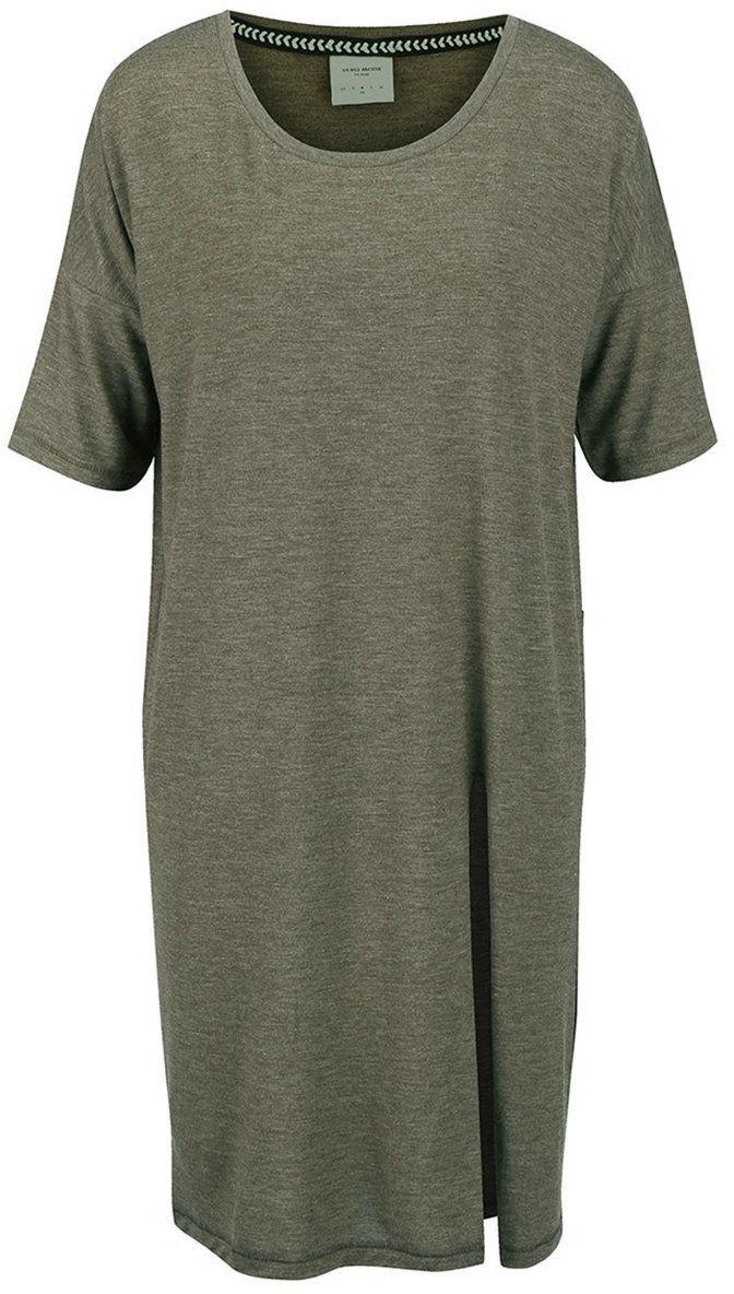 c8edd7d3008a Kaki melírované voľnejšie dlhé tričko Vero Moda Ida značky Vero Moda -  Lovely.sk