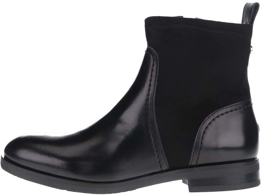 14a54fa43f Čierne členkové dámske kožené topánky Tommy Hilfiger značky Tommy Hilfiger  - Lovely.sk