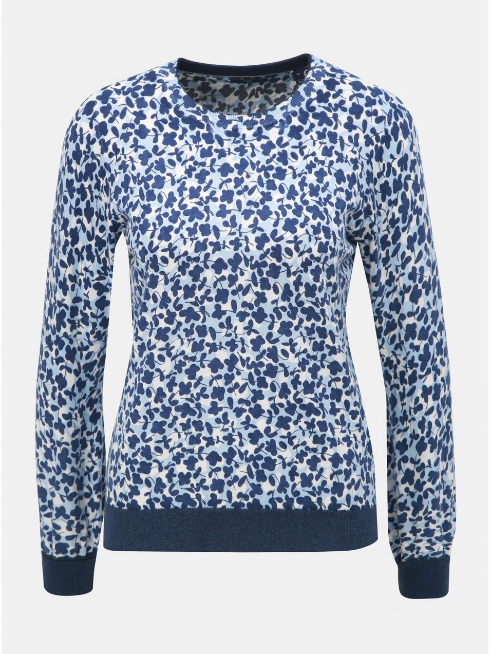 92f2e456e9f1 Bielo–modrý dámsky vzorovaný sveter GANT značky Gant - Lovely.sk
