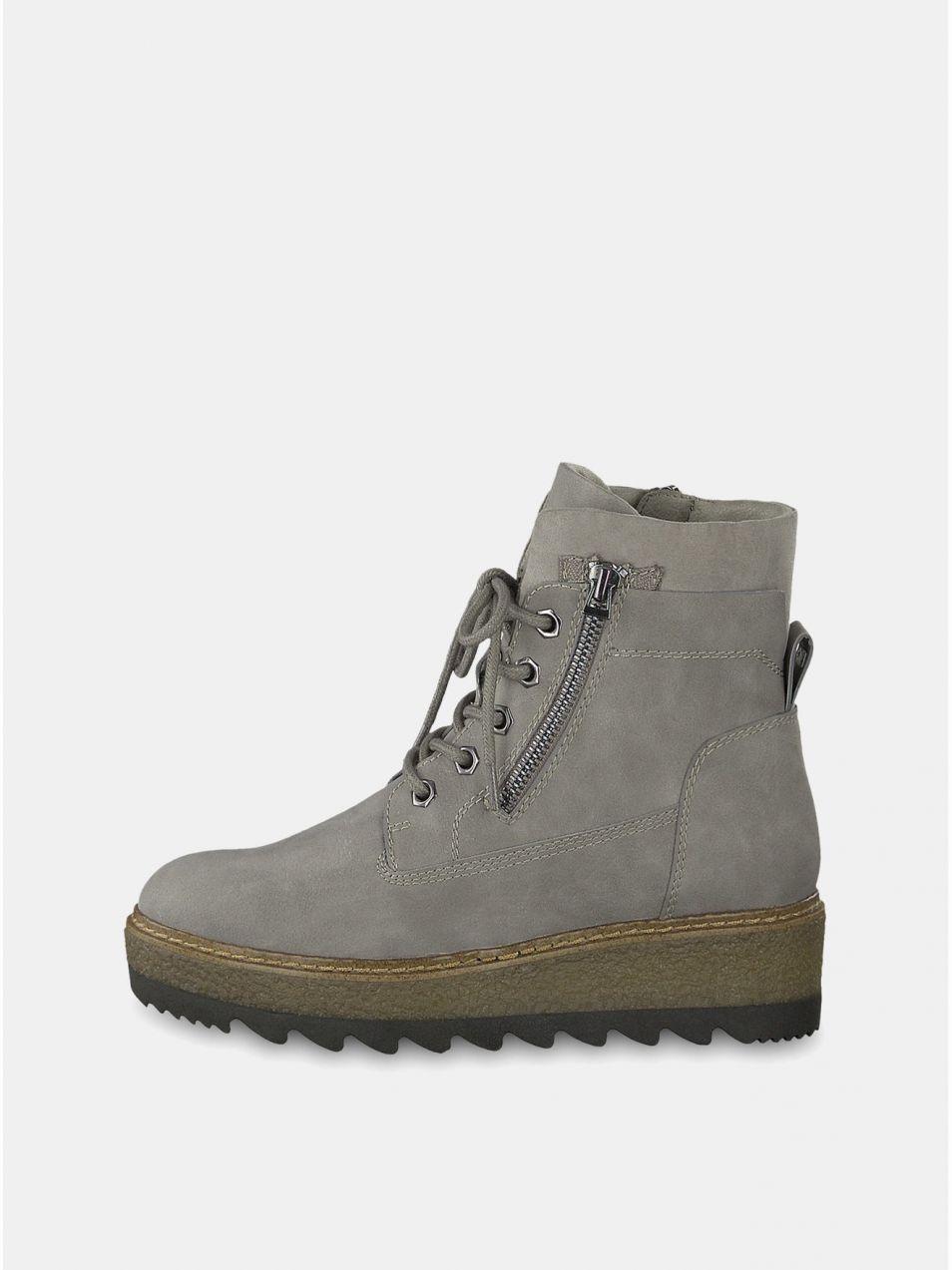 Sivé členkové topánky na podpätku Tamaris značky Tamaris - Lovely.sk ddab73f2f2d