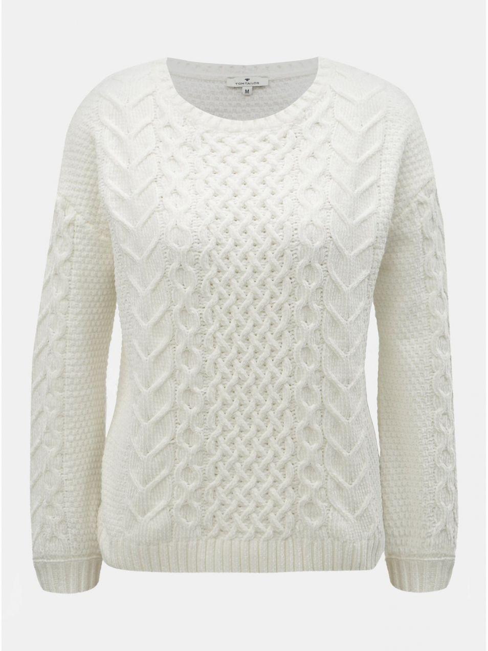 31d499dff590 Biely dámsky sveter Tom Tailor značky Tom Tailor - Lovely.sk