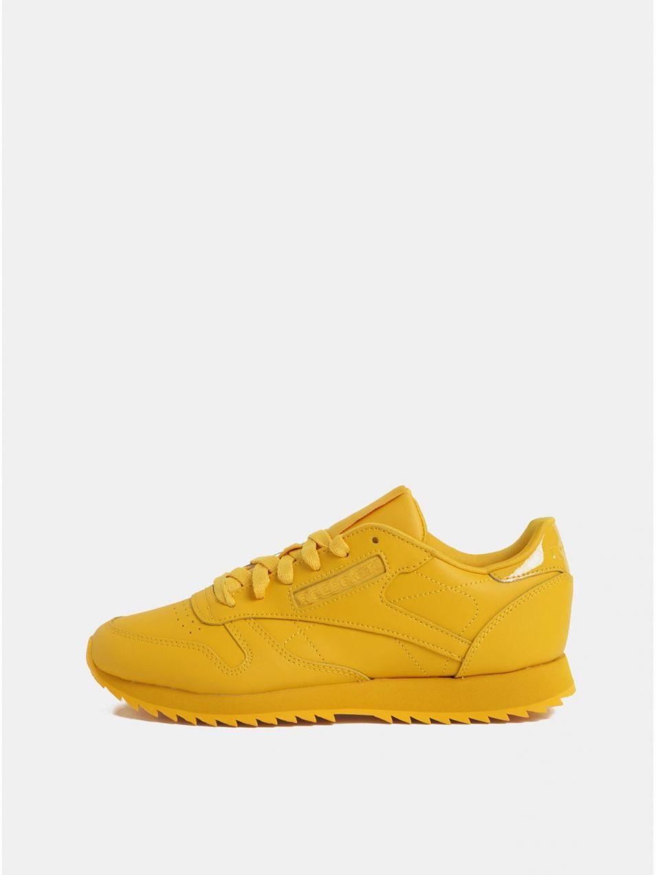 565febf761 Žlté dámske kožené tenisky Reebok Ripple značky Reebok - Lovely.sk