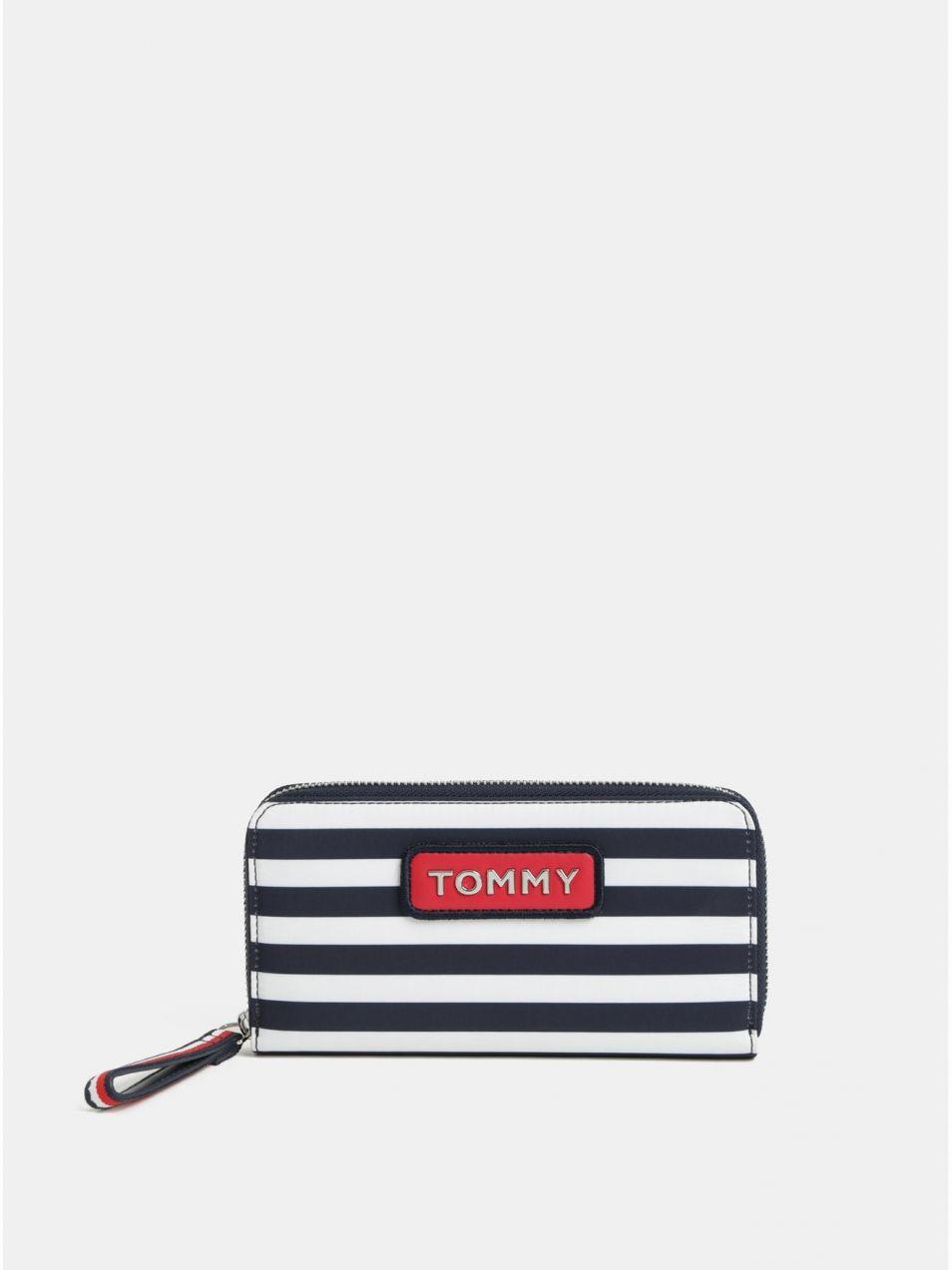 Bielo–modrá pruhovaná peňaženka Tommy Hilfiger značky Tommy Hilfiger ... 19693d43948