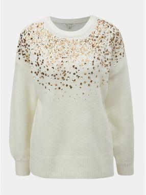 7de0e2db5683 Krémový krátky sveter so zvonovými rukávmi a odhaleným chrbtom Miss ...