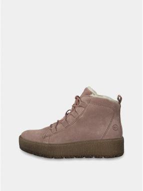 9a529e2c4df3 Svetloružové semišové členkové topánky Tamaris značky Tamaris ...