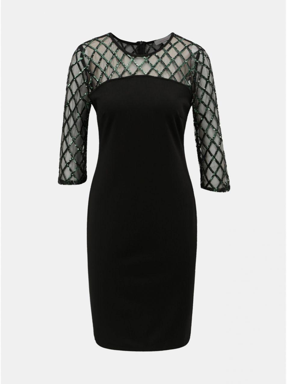 Čierne puzdrové šaty s flitrami Dorothy Perkins Petite značky ... 6a3982b6f3f