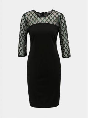Čierne puzdrové šaty s flitrami Dorothy Perkins značky Dorothy ... 8b11153acb5