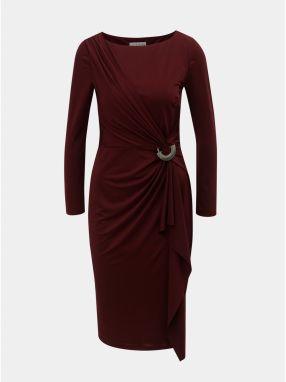 801f1e1172d2 Vínové šaty s volánom a kovovou ozdobou Lily   Franc by Dorothy Perkins