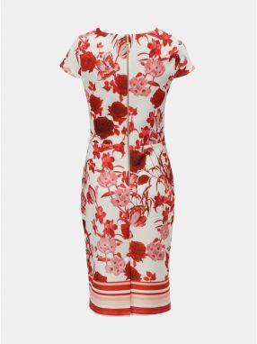 Červeno–krémové puzdrové kvetované šaty Dorothy Perkins značky ... e8216a1ca8f