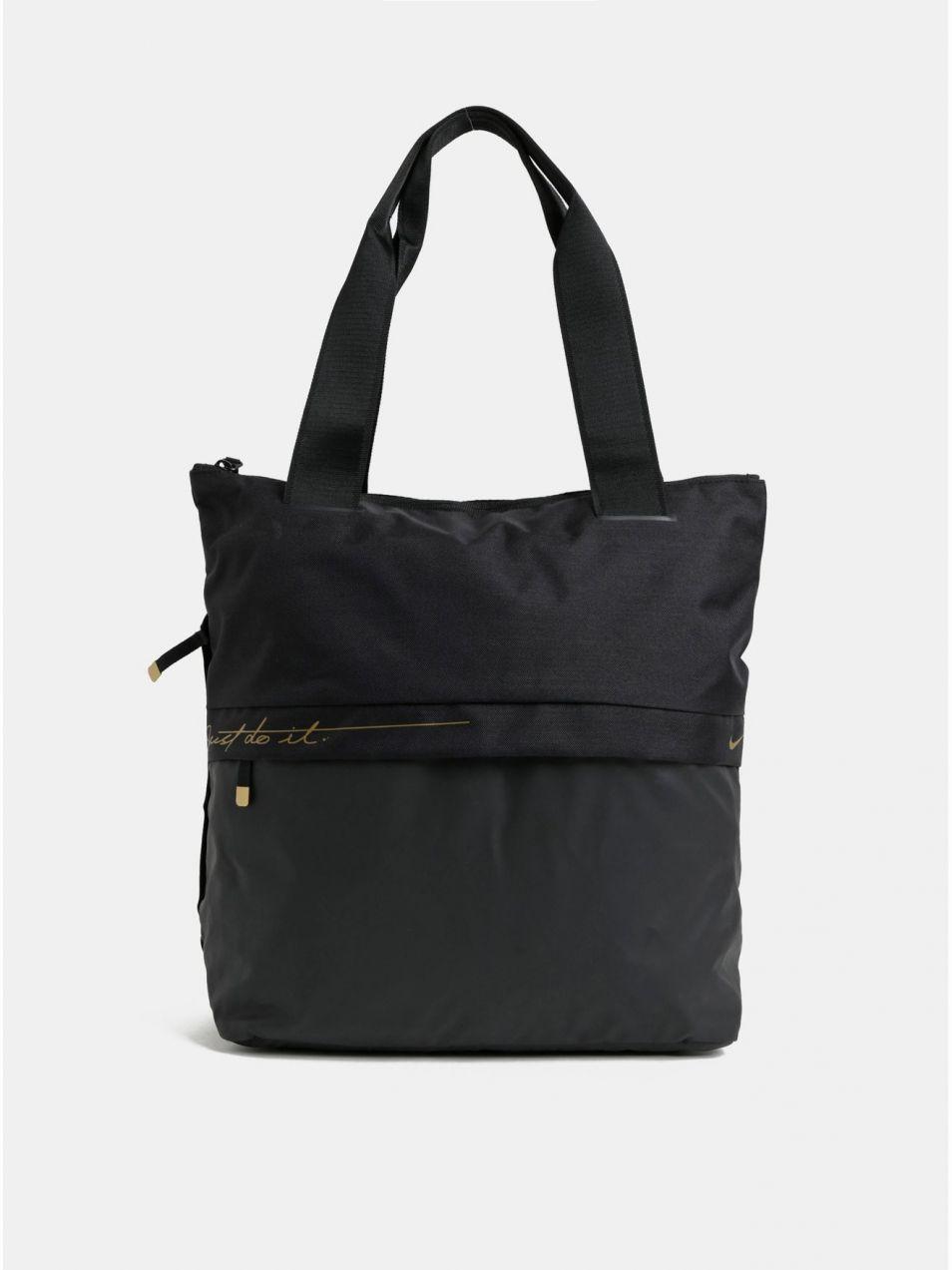 2c6f8d496b712 Čierna dámska športová taška s detailmi v zlatej farbe Nike 20 l značky Nike  - Lovely.sk