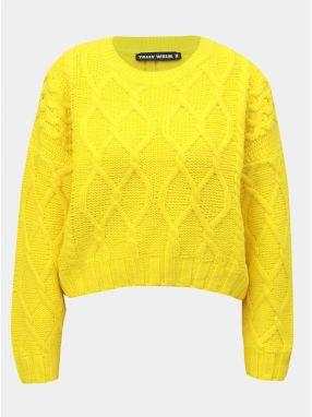 Žltý sveter s dlhým rukávom TALLY WEiJL b6209b79c01
