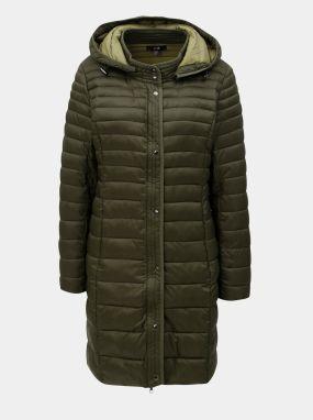 Kaki prešívaný kabát s kapucňou Yest 0c3afc81d59