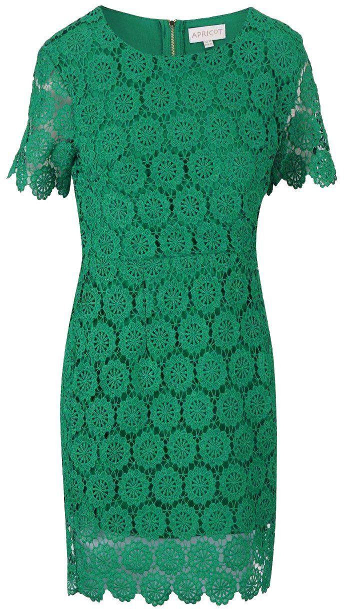 1cf9caaa4af4 Zelené čipkované šaty s krátkym rukávom Apricot značky Apricot - Lovely.sk