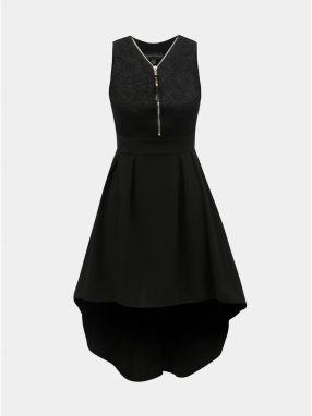 Čierne šaty s čipkovaným topom Mela London 84b6cf9dd35