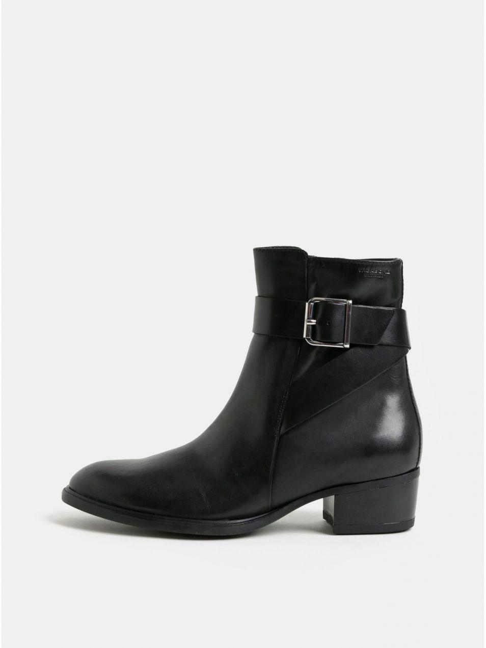 8f2195bc8d Čierne dámske kožené členkové topánky Vagabond Meja značky Vagabond ...