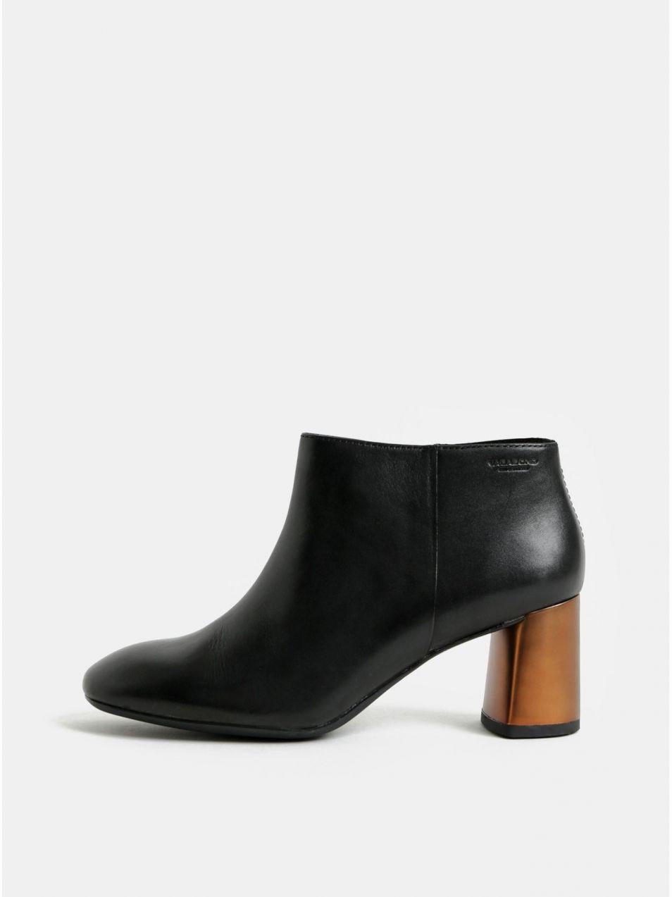 86bc303fa4 Čierne dámske kožené členkové topánky Vagabond Jeena značky Vagabond ...