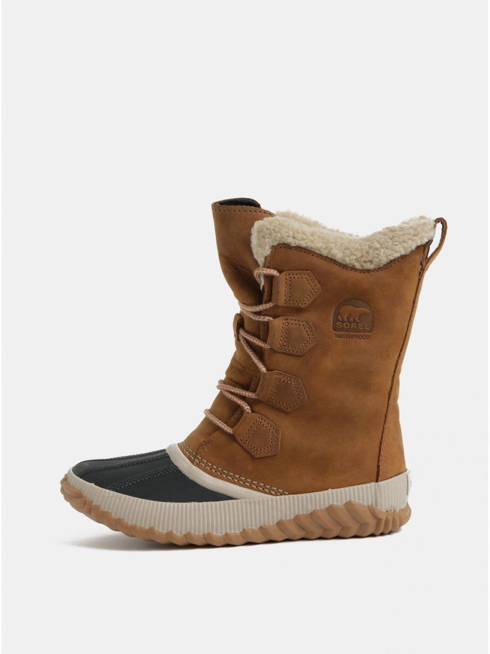 628400fa66 Hnedá dámske semišové nepremokavé zimné topánky SOREL Newbie značky SOREL -  Lovely.sk