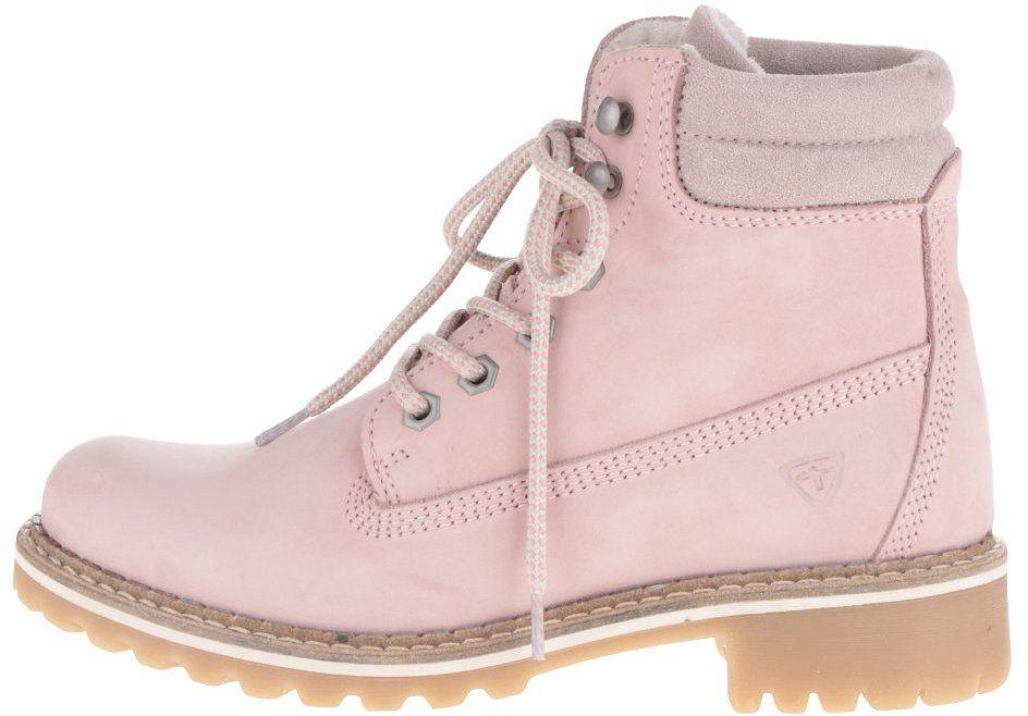 Svetloružové semišové členkové topánky Tamaris značky Tamaris - Lovely.sk 770f6abd956