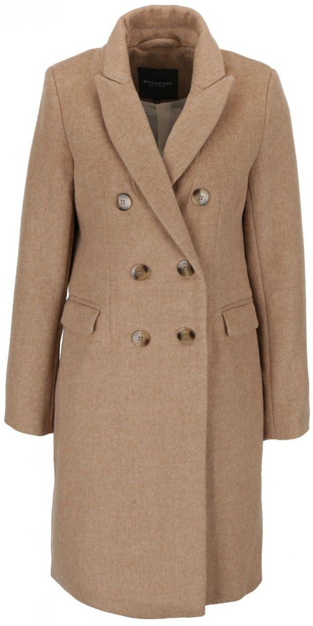7971dcc225 Béžový dámsky dvojradový kabát Broadway Reeve značky Broadway - Lovely.sk