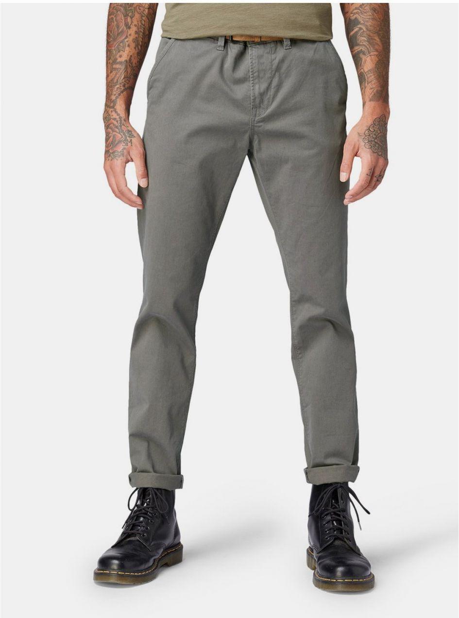 6d4b8853b513 Sivé pánske slim chino nohavice Tom Tailor Denim značky TOM TAILOR ...