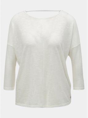 92d143a7b257 Krémové dámske voľné tričko s 3 4 rukávom Tom Tailor Denim